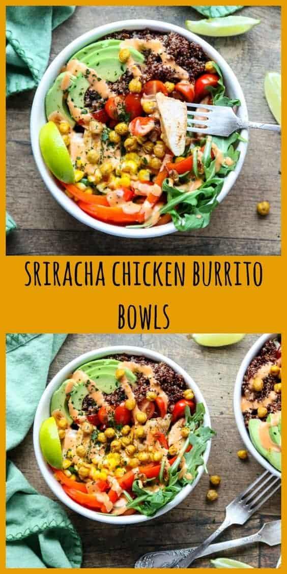 Sriracha Chicken Burrito Bowl