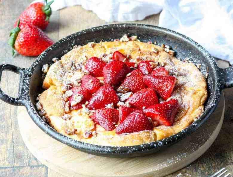 Strawberry Pecan Dutch Baby Pancake