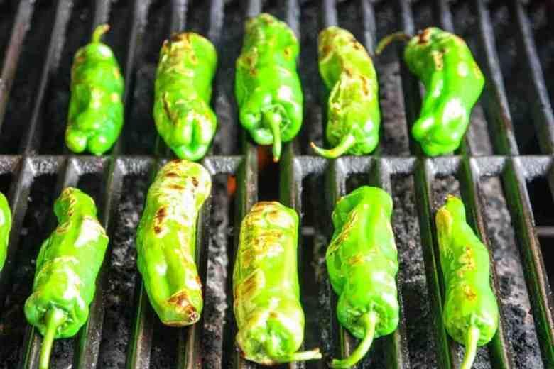 Sesame Shishito Peppers starting to blister