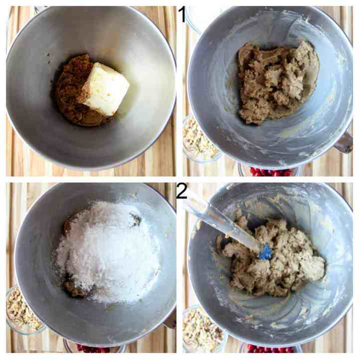 The first two steps to make the recipe.