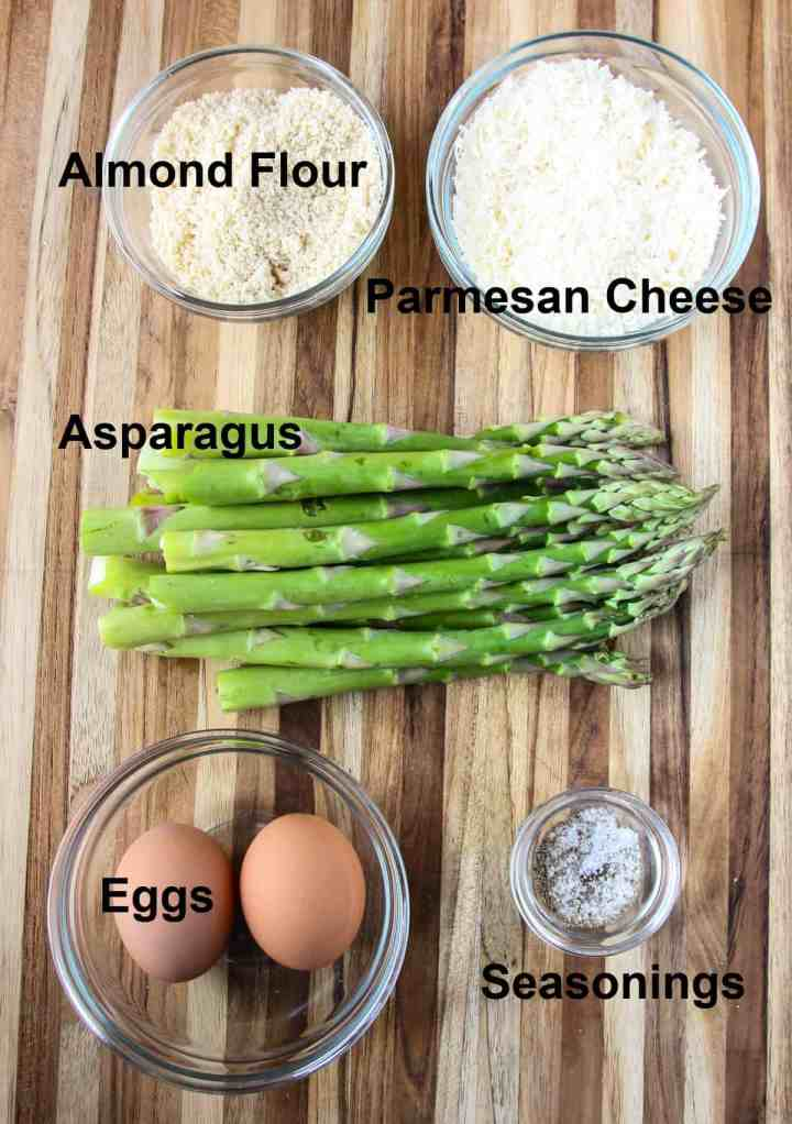 Ingredients to make the recipe on a wooden board.