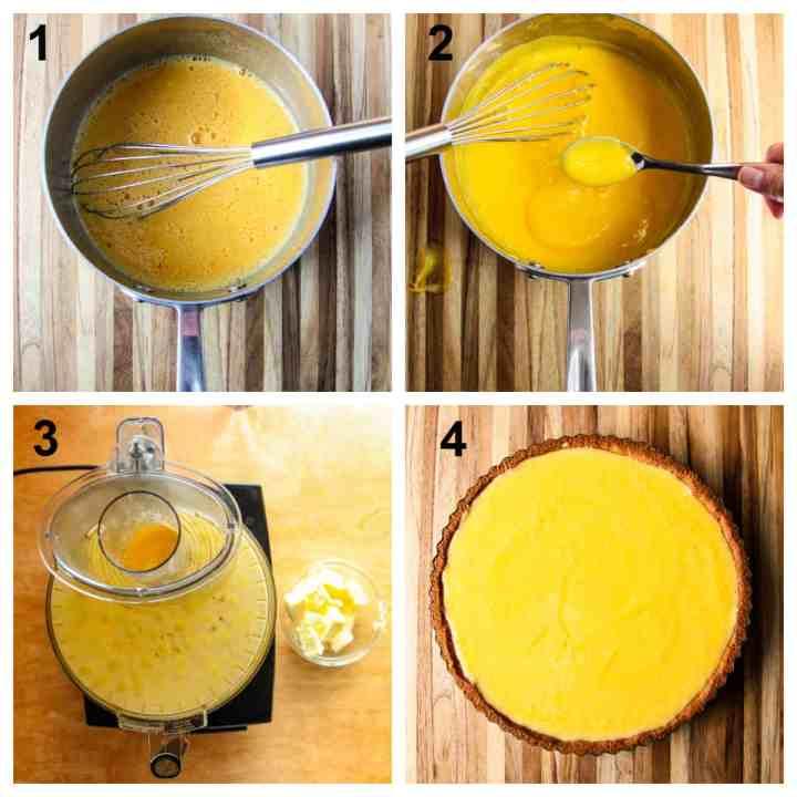 steps for making the lemon curd filling.