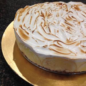 Lemon Curd Gelato Pie