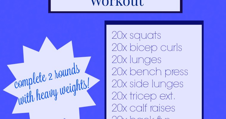 Upper & Lower Body Toning Workout