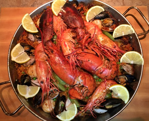 *Recipe*  Seafood Paella with Lobster