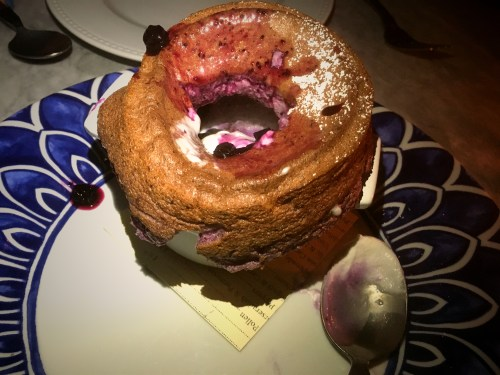 herb and Wood Blueberry Souffle