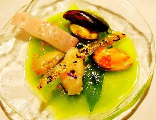Patrick Ponsaty 1500 Ocean seafood appetizer