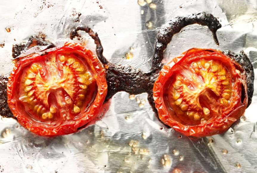 commercial food, food photography, advertising, restaurant, editorial, cookbooks, cook books, Dallas, Houston, food styling, prop styling, still life, roasted tomatoes, Ralph Smith Still Life Photography