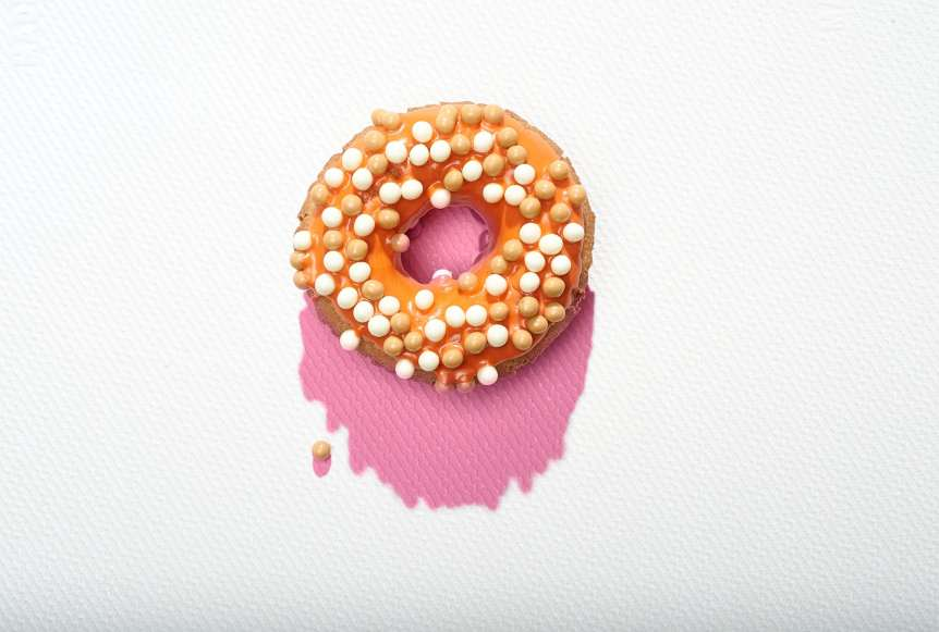studio, commercial food, food photography, advertising, restaurant, editorial, cookbooks, cook books, Dallas, Houston, food styling, prop styling, props, state of the art, commercial kitchen, dessert, donut, pop art, Ralph Smith Dessert Photography