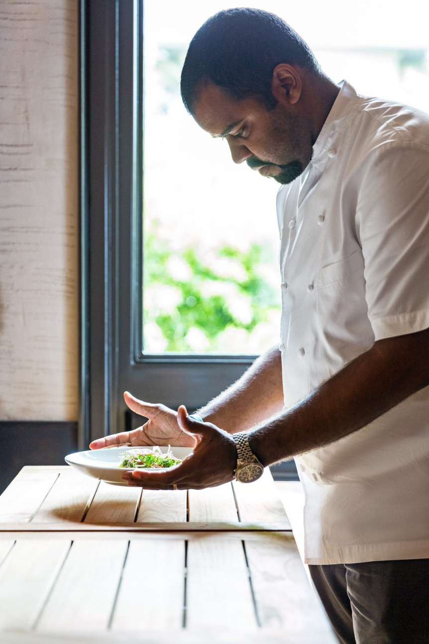Uchi Junior Borges, commercial food, food photography, advertising, restaurant, editorial, cookbooks, cook books, table top, food styling, prop styling, lifestyle, interior photography, chef portraits, celebrity chef portraits, portrait photography