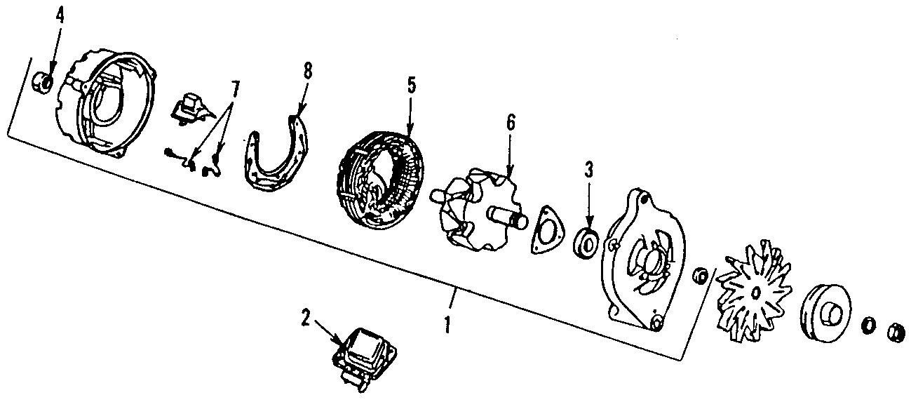 Ford Escort Alternator. Amp, Battery, Replaced