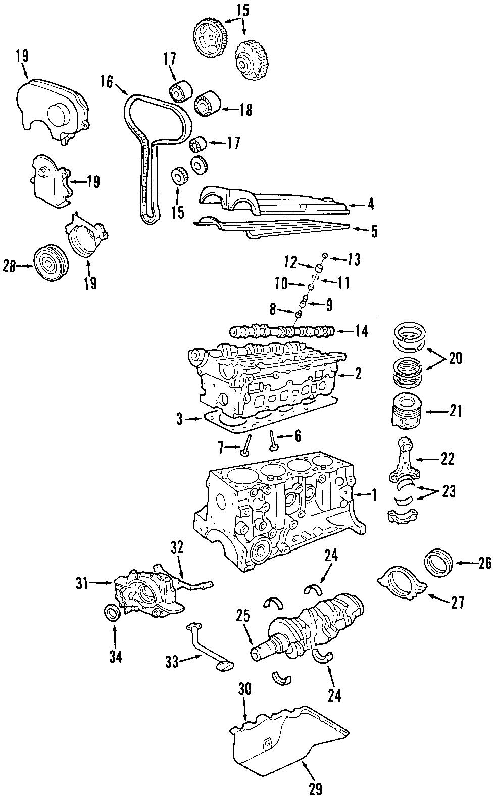 Ford Escort Crankshaft. Gear. Timing. Engine. Sprocket. 2