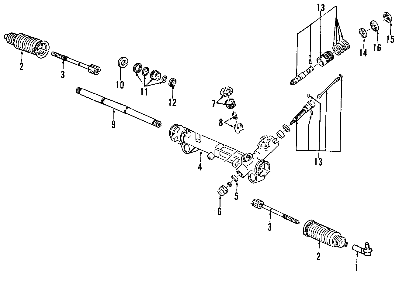 Ford Mustang Rack and Pinion Assembly. Steering, Gear
