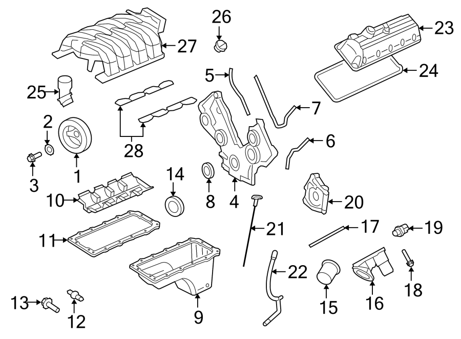 Ford Mustang Engine Intake Manifold. 4.6 LITER. Mustang; 4
