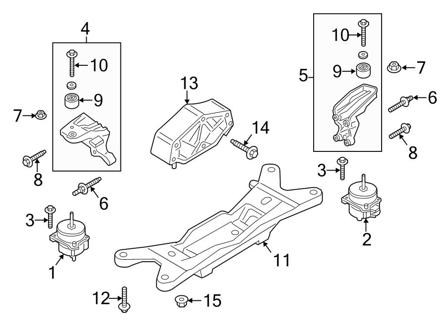 Ford Mustang Transmission Crossmember. 2.3 LITER, manual