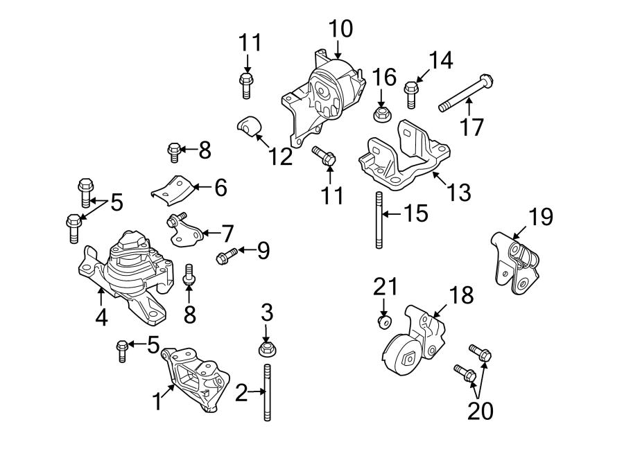 Ford Taurus X Mount. Transmission. (Lower). LITER, ENGINE