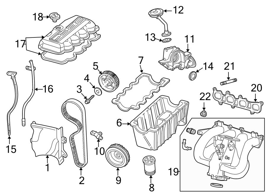 Ford Focus Engine Crankshaft Pulley. 1.9 LITER. 1.9L. 2.0L