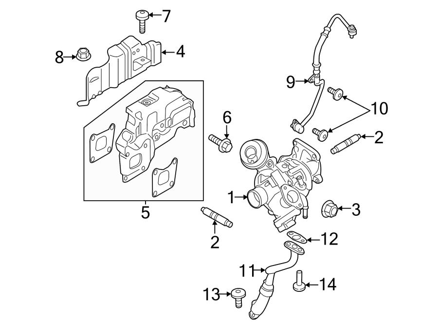 Ford Focus Heat. Shield. Gasket. Exhaust Manifold