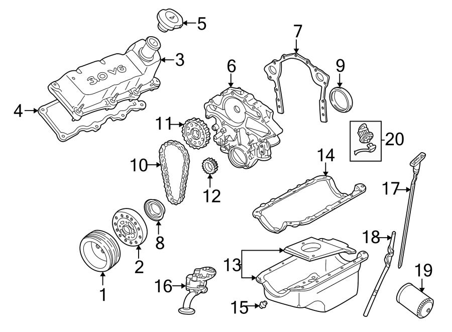 Ford Taurus Engine Oil Dipstick. 3.0 LITER. 3.0 LITER OHV