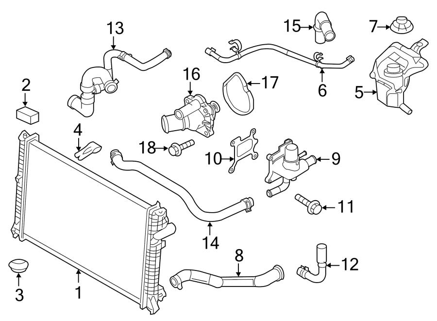 Ford Fusion Radiator Coolant Hose (Upper). 2.3 LITER. 2.5