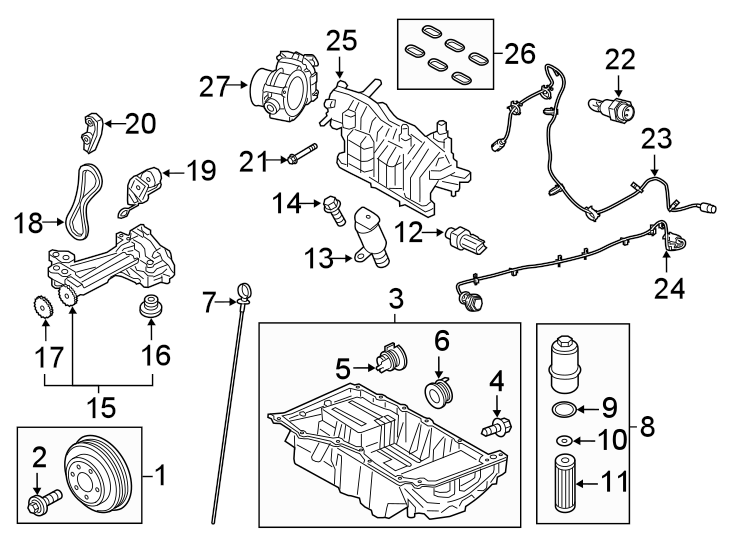 Ford Fusion Heater harness. WIRE ASSEMBLY. 2.7 LITER