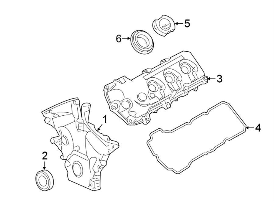 Lincoln Continental Engine Crankshaft Seal (Front