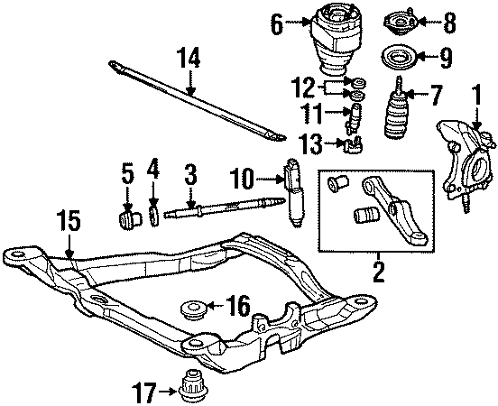Lincoln Continental Engine Cradle Insulator (Upper). Rear