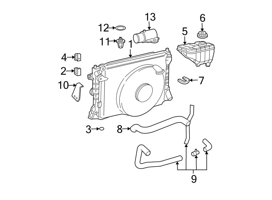 Lincoln Town Car Radiator Insulator (Lower). 3.0 LITER W