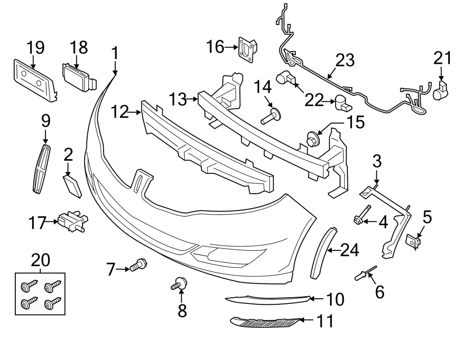 Lincoln MKZ Parking Aid System Wiring Harness. 2013-2016