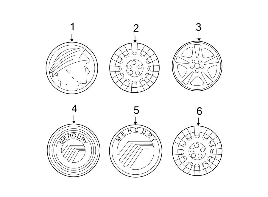 Mercury Grand Marquis Wheel Cover. Type 3. Type 3, w/16