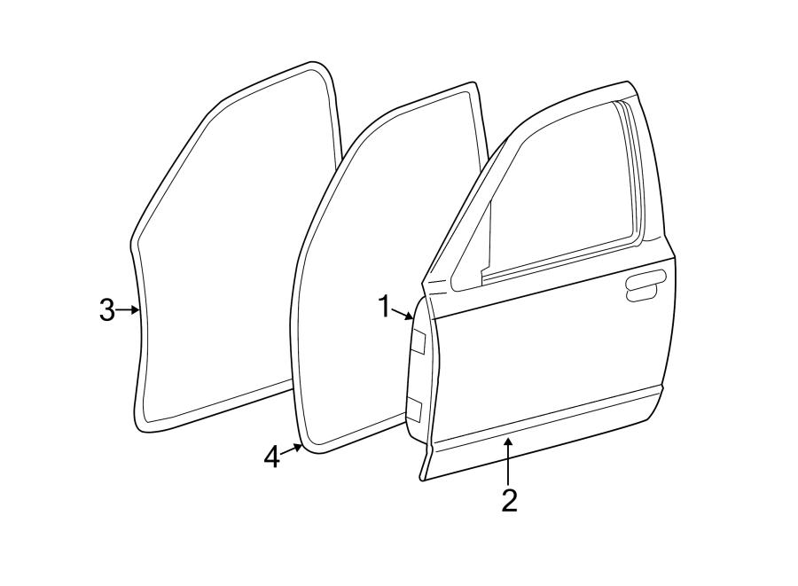 Mercury Grand Marquis Door Shell (Front, Rear). W/keyless