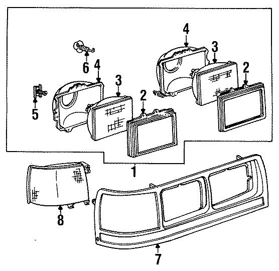 Mercury Grand Marquis Headlight Adjusting Spring. 1985-86