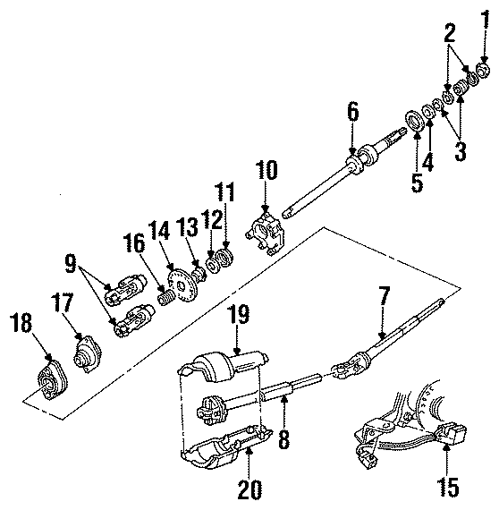 Mercury Grand Marquis Steering Column Bearing (Upper