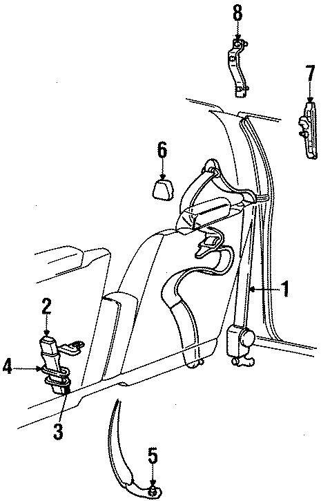 Mercury Grand Marquis Seat Belt Lap and Shoulder Belt