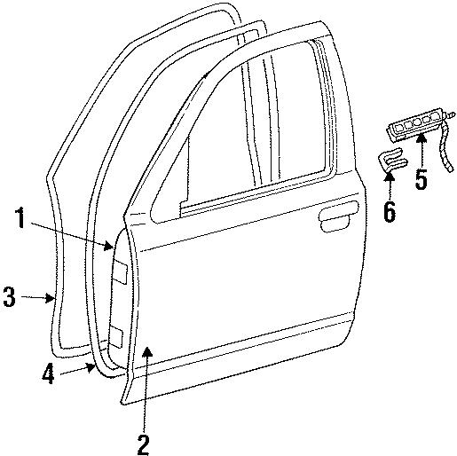 Mercury Grand Marquis Door Seal (Front, Upper). On door