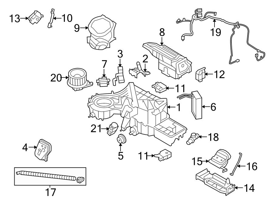 Ford F-150 Hvac system wiring harness. W/dual zone auto ac