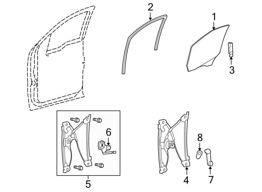 Ford Expedition Window Regulator. Manual, Make, Left