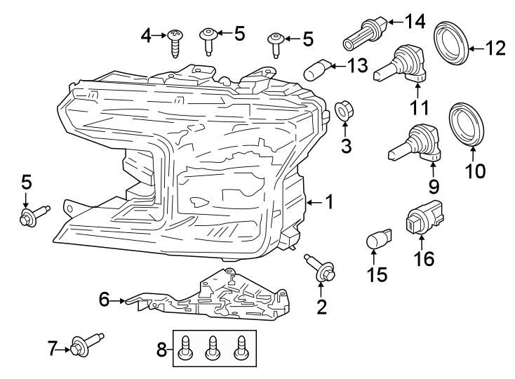Ford F-150 Socket. Bulb. LAmp. Signal. 2018-20, W/HALOGEN
