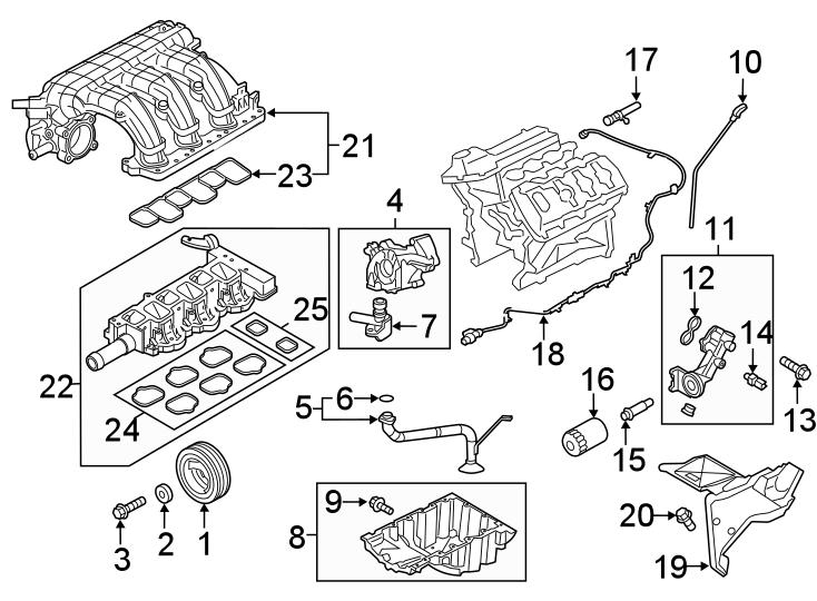 Ford F-150 Engine Intake Manifold. 3.3 LITER, upper. F150