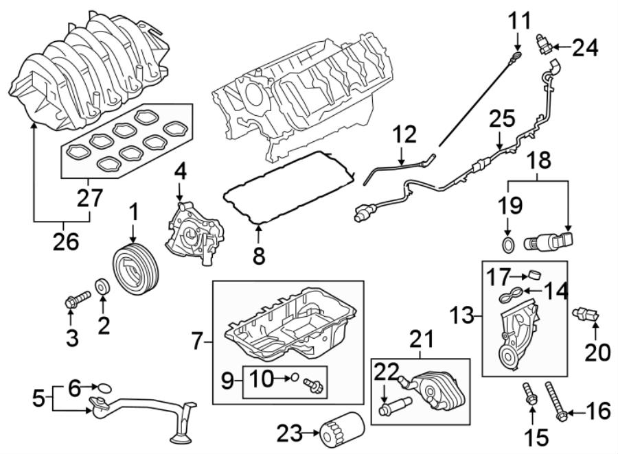Ford F-150 Engine Intake Manifold. 5.0 LITER, 2018-20