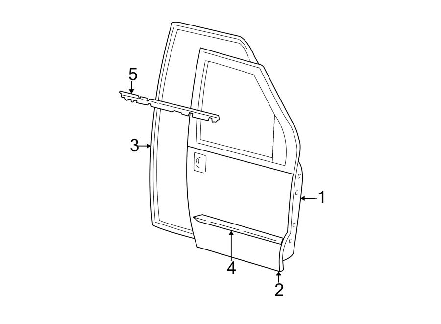 Ford E-350 Econoline Club Wagon Door Seal (Front, Upper
