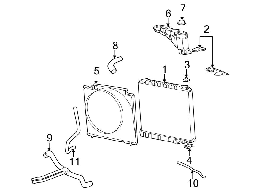 Ford F-250 Super Duty Engine Cooling Fan Shroud. RADIATOR