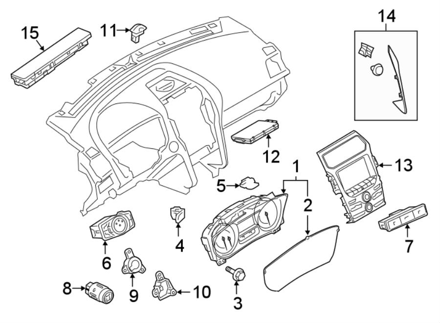 Ford Explorer Instrument Panel Molding (Lower). BASE, XLT