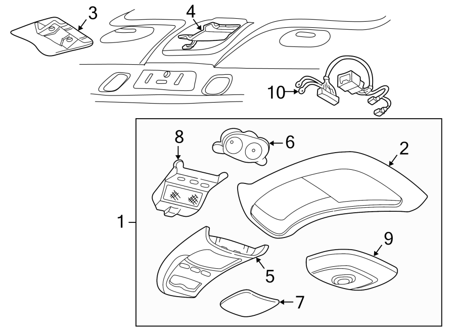 Ford Explorer Sport Trac Compass. From 03/1996. Assembly