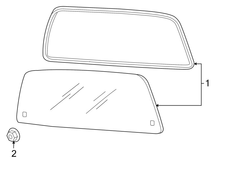 Ford Explorer Sport Trac Back Glass Nut. POWER, Sliding