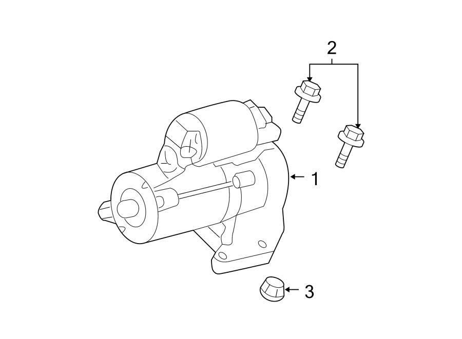 Ford Escape Starter Nut. 3.0 LITER. Washer, Telematics