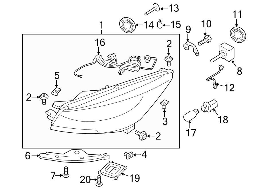 Ford Escape Headlight Wiring Harness. W/XENON LAMPS. W
