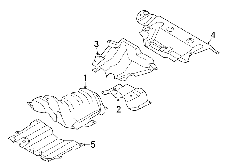 Ford Escape Floor Pan Heat Shield (Rear). 2.0 LITER, front