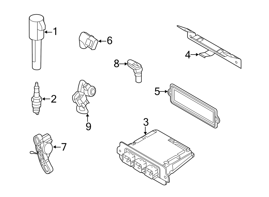 Ford Escape Engine Control Module. Escape, Mariner; Code