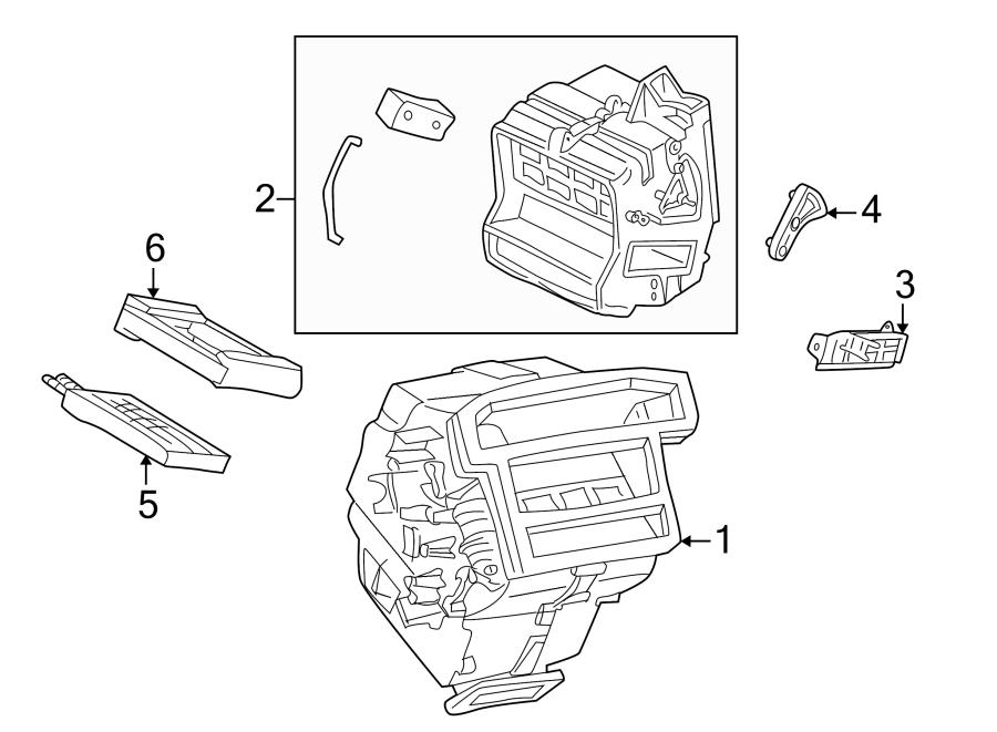 Mercury Mariner Hvac heater core seal. Hvac heater core